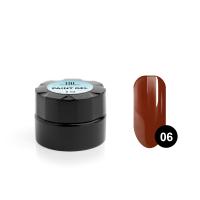 Гель-краска для дизайна ногтей TNL №06 (спелая вишня), 6 мл.