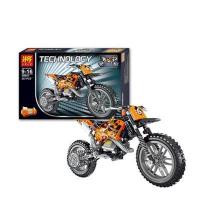 Конструктор Lele 38041 Technology Кроссовый мотоцикл 253 детали