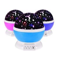 Ночник, проектор, светильник Звездное небо Star Master шар крутится