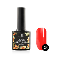 Гель-лак TNL Love autumn №24 - ярко-красный (10 мл.)