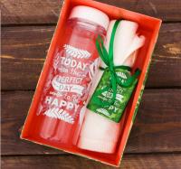 "Набор ""Perfect day"", бутылка для воды, полотенце   2588977"