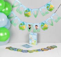 """Воздушные шары """"Сыночек"""", фотоальбом, гирлянда, наклейки, 24 предмета в наборе"""