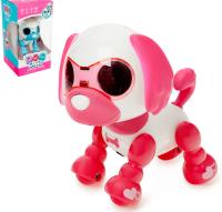 """Робот интерактивный """"Щеночек"""", световые и звуковые эффекты, работает от батареек, розовый   4169772"""