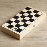 Игра 3 в 1 (нарды, шахматы (дерево), шашки) малая Классика