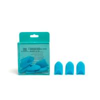 Силиконовые колпачки для снятия гель-лака (10 шт/упак) голубые