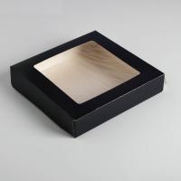 Контейнер на вынос, чёрный, 20 х 20 х 4 см   4439909