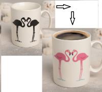 """Кружка-хамелеон """"Влюблённые фламинго"""" 320 мл, 11,8x8x9,5 см   4721626"""
