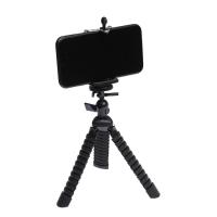 Штатив LuazON настольный, для телефона, гибкие ножки, высота 20 см, чёрный 4364246