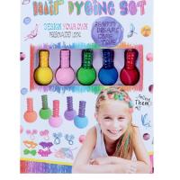 Набор мелков для окрашмвания волос 5 цветов+косметичка 3750740