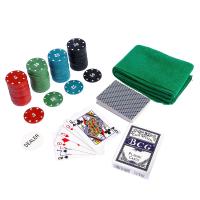 Покер, набор для игры (карты 2 колоды, фишки 100 шт, сукно 40х60 см) 411282