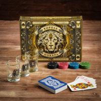 """Подарочный набор Рюмки и набор для покера """"Король покера""""   4419435"""