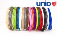 UNID Набор пластика для 3D ручек: PLA-12 (по 10м. 12 цветов в коробке)
