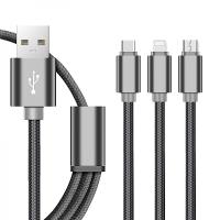 Кабель Орбита OT-SMU03 USB 2A (microUSB/iPhone5/6/7/TYPE-C) 1м