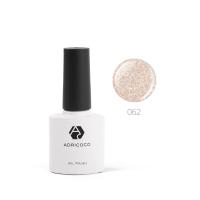 Цветной гель-лак ADRICOCO №062 мерцающий шампань (8 мл.)