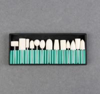 Фрезы войлочные для маникюра в органайзере, 13 шт