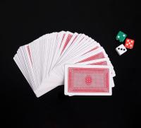 Покер, набор для игры: 3 кубика 1.5х1.5см, колода карт 54шт, 5.5х10.5 см   3797112