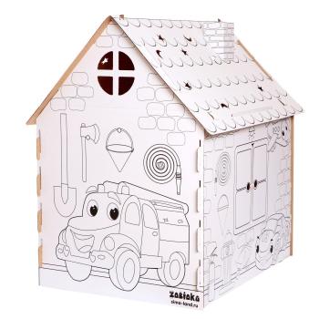 """Дом-раскраска из картона """"Пожарная станция"""" 5091382"""