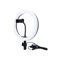 Кольцевая светодиодная LED лампа с держателем 26 см БЕЗ ШТАТИВА