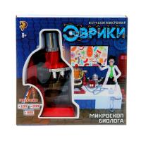 Набор для изучения микромира «Микроскоп», 7 предметов, цвет чёрный