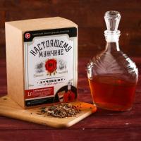 """Подарочный набор для приготовления алкоголя """"Пряный виски"""": набор трав и специй и бутылка   4410332"""