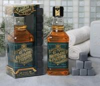"""Набор """"С новым годом"""" гель для душа виски, мыло камни для виски   4313812"""