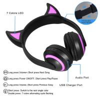 Беспроводные наушники ZW-19B DEVIL EAR с LED подсветкой 7 цветов
