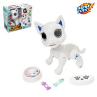"""Робот-питомец радиоуправляемый, интерактивный """"Кошка"""", работает от аккумулятора, №SL-03043A   450373"""