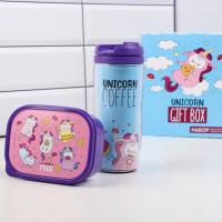 "Набор ""Unicorn Giftbox"", термостакан 350 мл и ланчбокс 500 мл 4913405"