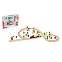 Железная дорога со станциями, 48 деталей 504015