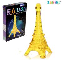 "ZABIAKA  пазлы 3D ""Башня"", 24 детали, 2 цвета, свет №SL-7032 121862"