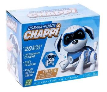 Собака-робот интерактивная «Чаппи», умеет лаять, ходить, качать голов, цв. голуб. №SL-01986A 3749721