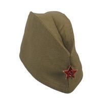Пилотка ХАКИ звезда металлическая карнавальная детская р.53-55