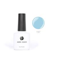Цветной гель-лак ADRICOCO №197 небесно-голубой (8 мл.)