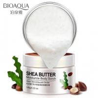 Увлажняющий массажный скраб для тела с маслом семян дерева Ши Bioaqua BQY8648