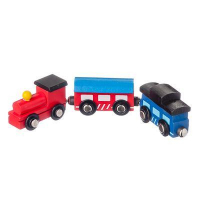 Игрушка Поезд и 2 вагона на магнитах