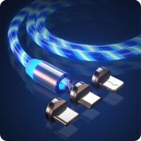Кабель USB магнитный светящийся 3 в 1 W-016