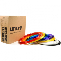 UNID Набор пластика для 3D ручек: UNID PRO-9 (по 10м. 9 цветов в коробке)
