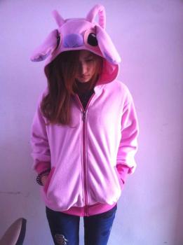 Толстовка Стич розовый
