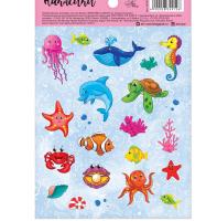 """Наклейки бумажные """"Морской мир"""", 11*16 см   2834912"""