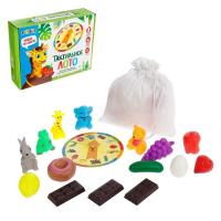 """ZABIAKA Тактильное лото с игрушками """"Животные и продукты""""   4348869"""