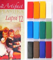 """Пластика (пластилин отверждаемый) """"LAPSI"""" 12 классических цветов 240 г в картонной упаковке, арт. 71"""