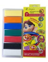 Пластика (пластилин отверждаемый) набор 7 классических цветов  140  гр, арт. 7507-08