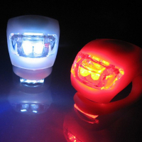 Яркие силиконовые фонари/мигалки 2 шт красный и белый