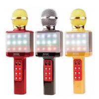 Беспроводной караоке микрофон светящийся WS-1828