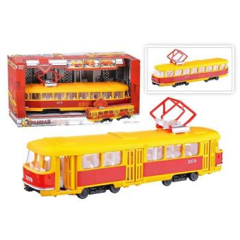 Трамвай (свет+звук), в коробке (10218040/141114/0026417/3, КИТАЙ)