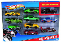 Хот Вилс Hot Wheels Машинки 10 в 1