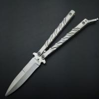 Складной нож бабочка Y-15B серый
