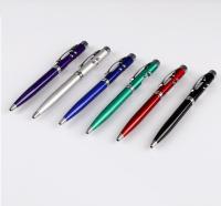 Фонарик карманный с шариковой ручкой, 2 света, микс, 13.5х1 см 470242