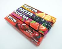 Жевательные конфеты TOFITA вишня / смородина / апельсин / клубника в боксе 20 туб.