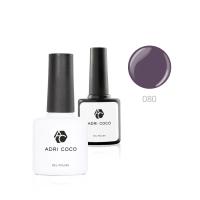 Цветной гель-лак ADRICOCO №080 дымчато-фиолетовый (8 мл.)